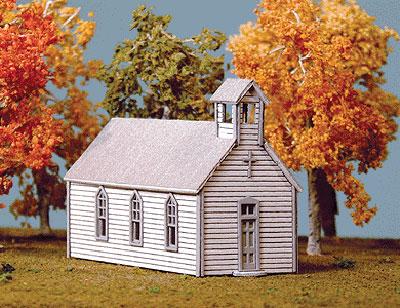 Lk 691 N Scale Crossroads Church Kit