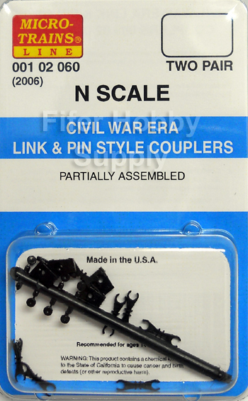 Link And Pin Coupler : Mt micro trains couplers civil war