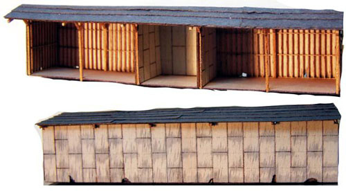 Rsl 3009 Rsl N Scale 5 Bay Open Storage Shed Kit