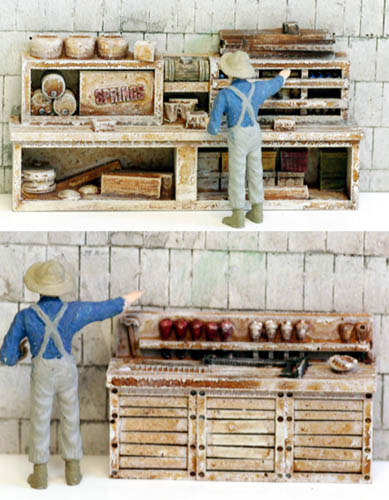 D1172p N Scale Model Tech Old Time Work Benches Set 4